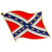REBAL FLAG WAVING LAPEL PIN